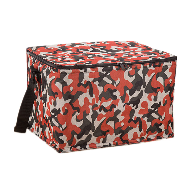 Large Camouflage Insulated Lunch Box Thermal Cooler Storage Picnic Shoulder Bag