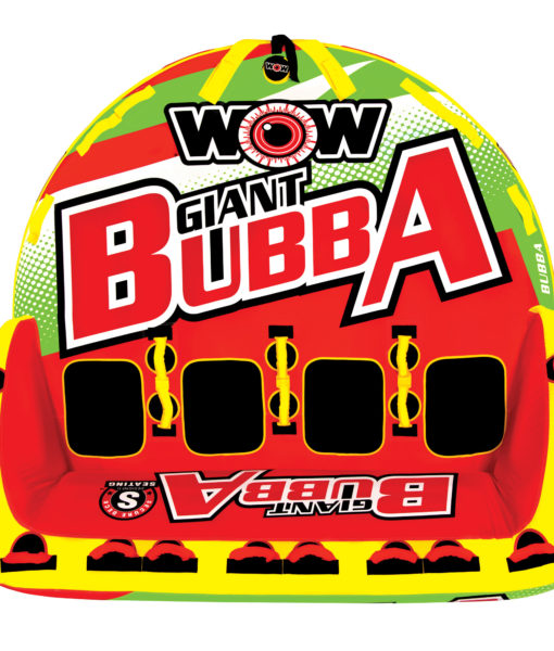 WOW 171070 Giant Bubba Hi-Vis Inflatable Towable for 1-4 Riders by WOW Watersports USA