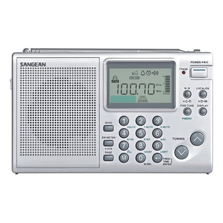 Digital Multi Band World Radio - Sangean All in One AM/FM/SW Professional Digital Multi-Band World Receiver Radio with Large Easy to Read Backlit LCD Display
