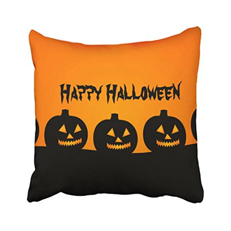 WinHome Decorative Pillowcases Happy Halloween Throw Pillow Covers Cases Cushion Cover Case Sofa 18x18 Inches Two Side - Halloween Nj Date