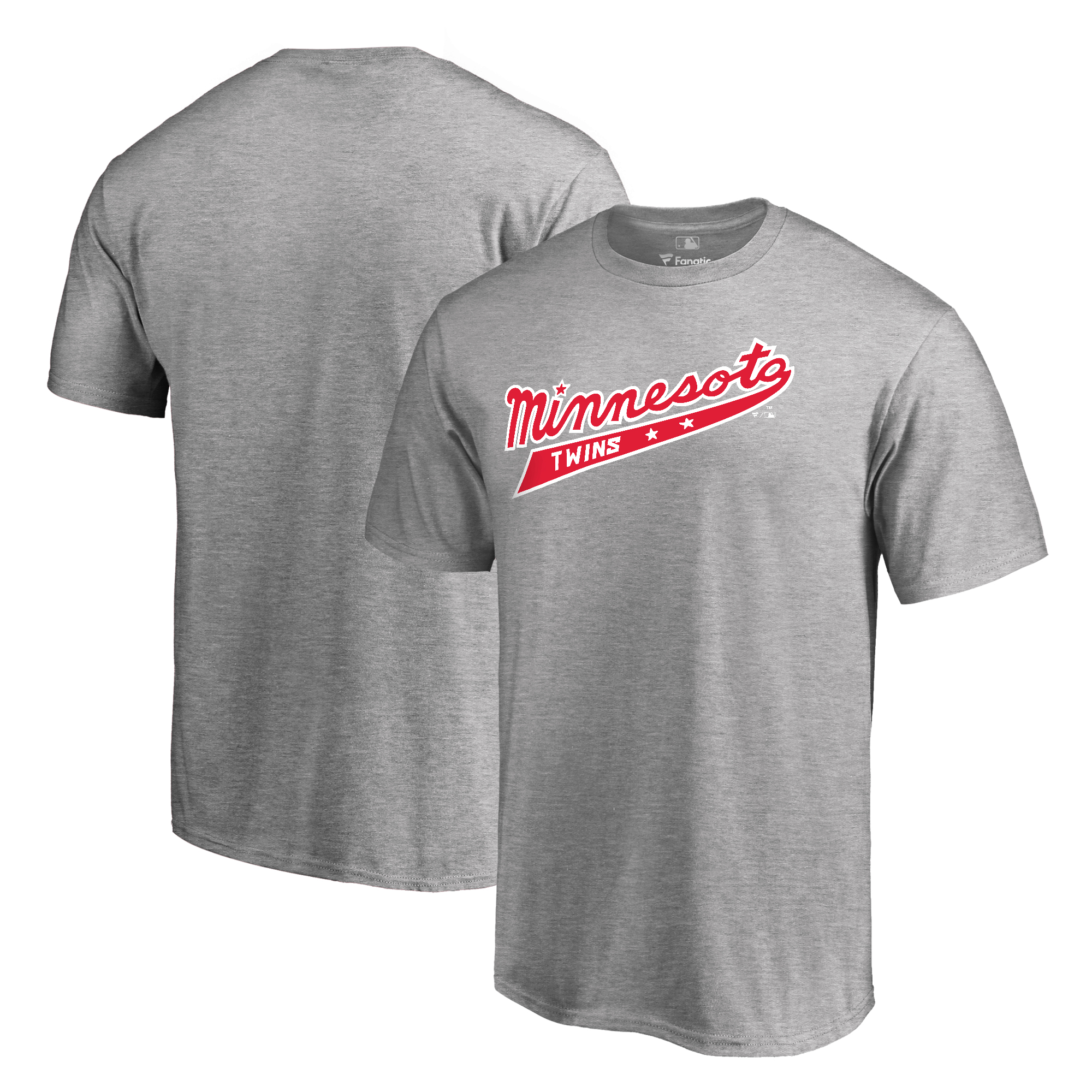 Minnesota Twins Fanatics Branded Cooperstown Collection Forbes T-Shirt - Ash