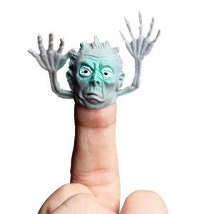 Fancyleo Novel PVC Ghost Finger Puppet Telling Stories Halloween Funny Toy Action Figure Toy Children Gift, Random (Halloween Finger Foods Easy For Kids)