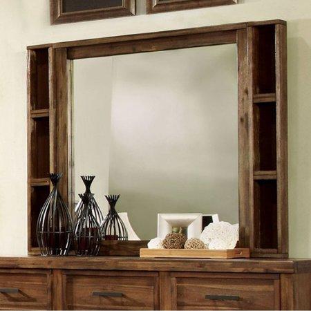 Baddock Transitional Style Mirror   Antique Oak