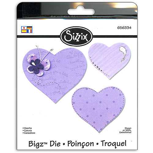 Sizzix Bigz BIGkick/Big Shot Die, Hearts Multi-Colored
