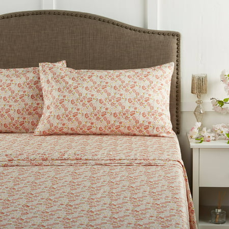 Better Homes & Gardens 100% Cotton Wrinkle Resistant Bedding Sheet Set, King