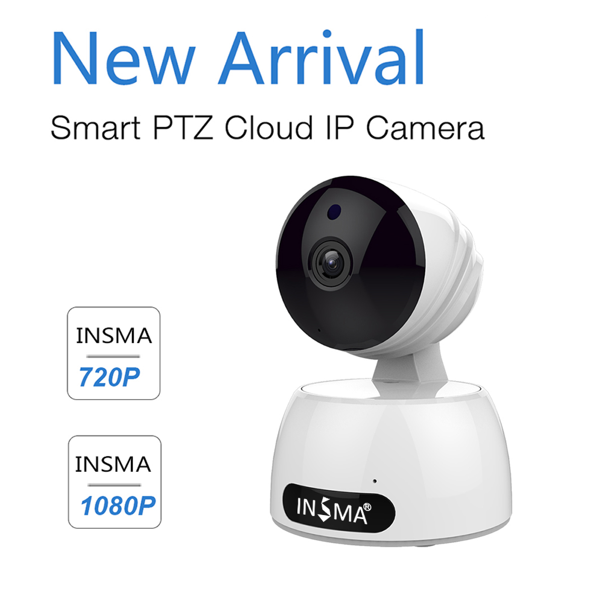 WIFI Home Security Camera INSMA 1080P HD Wireless IP Camera with Two Way  Audio Night Vision Motion Detect Remote Control Security Monitor for IOS  and