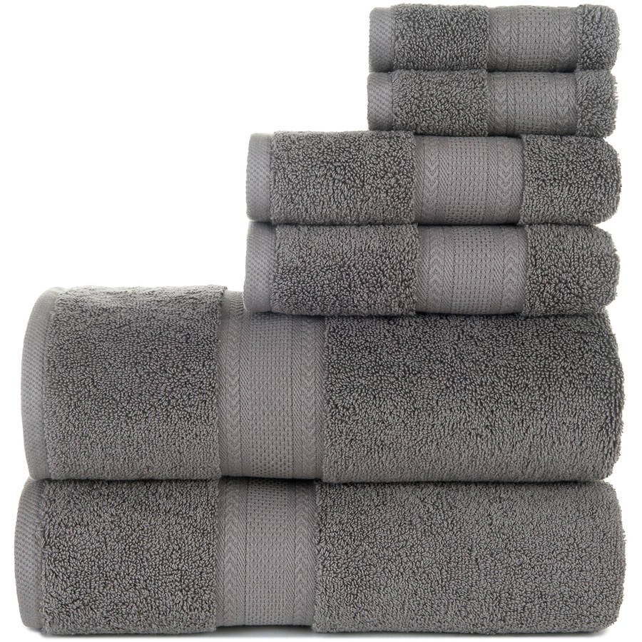 Endure 6-Piece Sumptuousness 100% Cotton Towel Set Collection