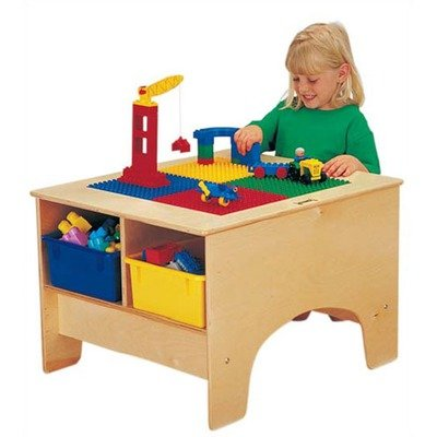 Kydz Building Table - Duplo® Compatible Without Tubs-Compatibility:Colored Tubs