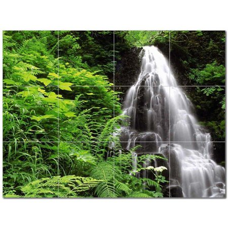 Waterfalls Picture Ceramic Tile Mural Kitchen Backsplash Bathroom Show