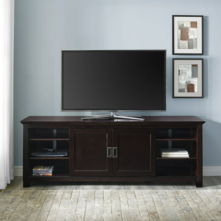 Manor Park Sliding Door TV Stand for TVs up to 78u0022 - Espresso