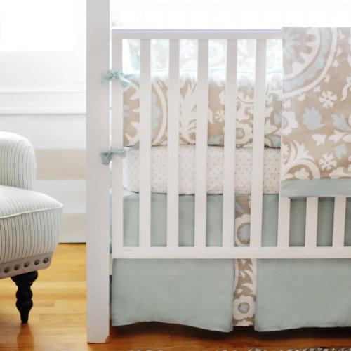 New Arrivals Picket Fence 2 Piece Crib Bedding Set