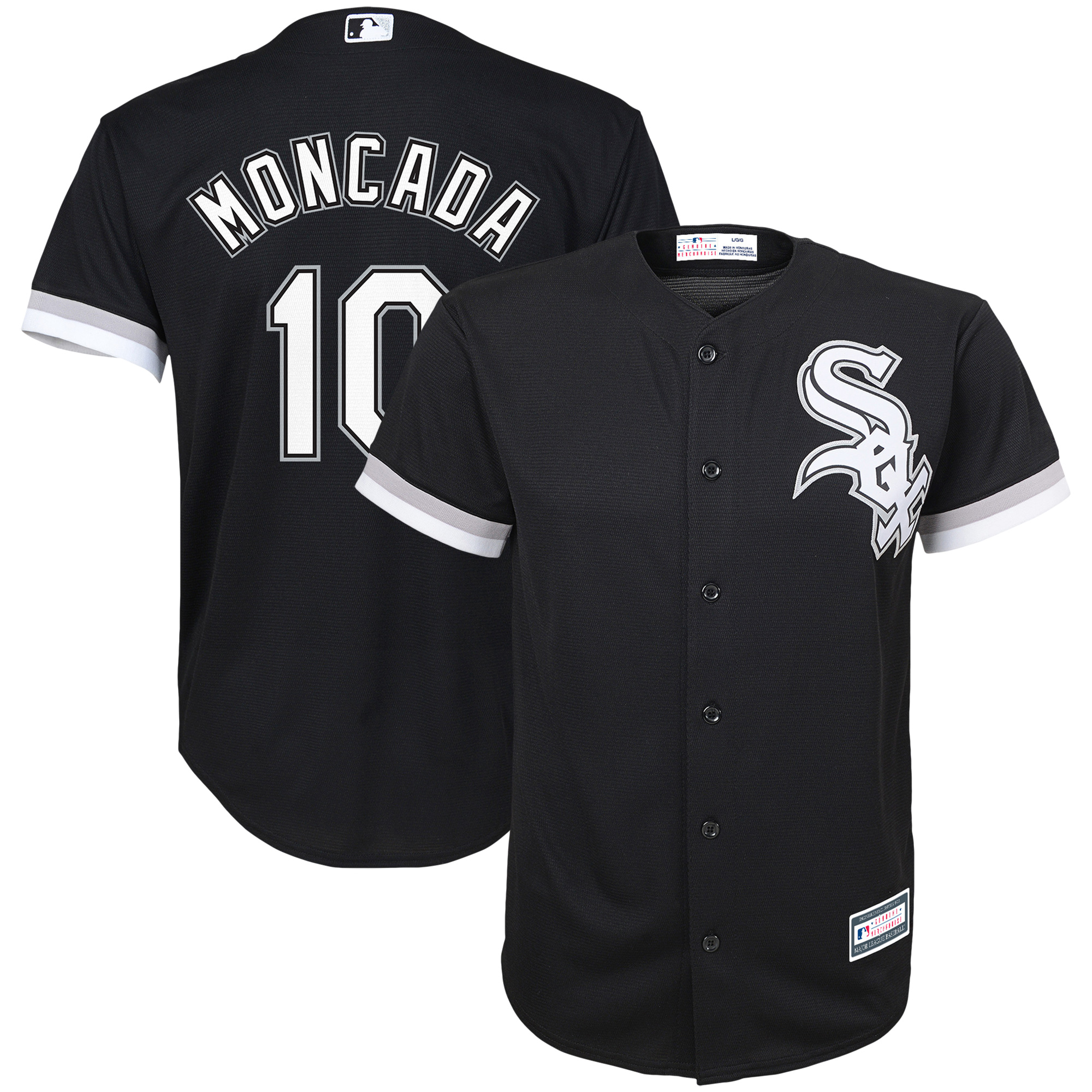 Yoan Moncada Chicago White Sox Youth Player Replica Jersey - Black