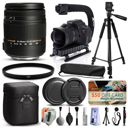 Sigma 18-250mm F3.5-6.3 DC OS MACRO HSM Lens for Canon (883101) + 60