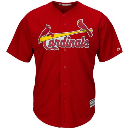 new styles a5834 2e354 St. Louis Cardinals Majestic Youth Official Cool Base Jersey - Scarlet