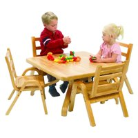 Square Play Table and Chairs Set (Toodler)