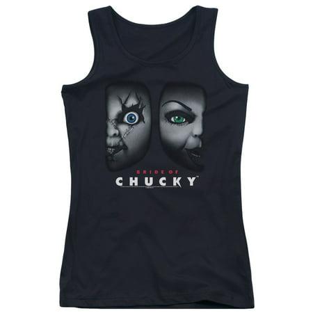 Bride Of Chucky Horror Comedy Movie Happy Couple Juniors Tank Top Shirt
