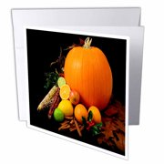 3dRose Thanksgiving Celebration , Greeting Cards, 6 x 6 inches, set of 12
