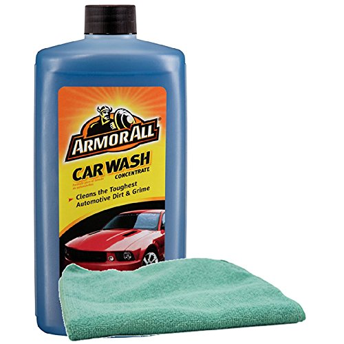 Armor All Car Wash Concentrate 24oz, Bundled with a Microfiber Cloth (2 Items)