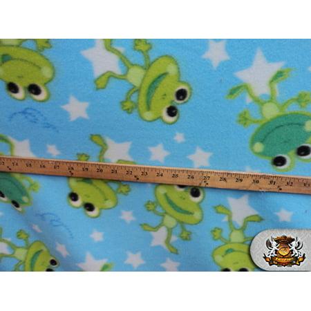 Fleece Printed Fabric ^ FROG STARS ^ / 58