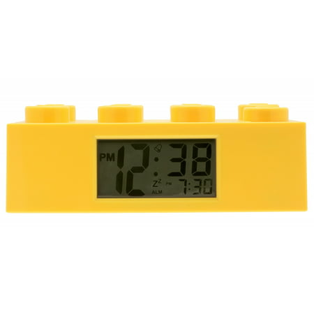 LEGO Alarm Brick Clock Yellow