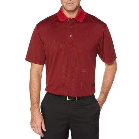 Aggies Performance Team Polo - Big Men's Performance Short Sleeve Textured Golf Polo