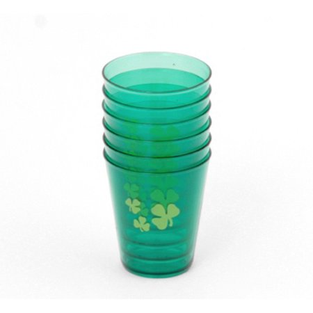 Chef Craft St. Patrick's Shot Glasses 2 oz Shot Glasses, Green, 6 Pack