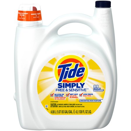 Tide Simply Free Amp Sensitive Liquid Laundry Detergent 138