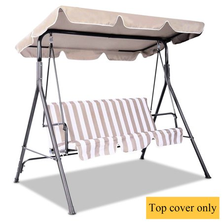 Costway Swing Top Cover Canopy Replacement Porch Patio Outdoor 77''x43'' - image 10 of 10