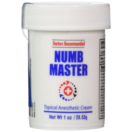 Numb Master 5 Topical Anesthetic Lidocaine Cream 1 Oz
