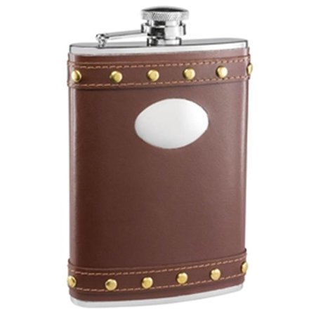 Rocker Brown Leather Liquor Flask - 8 oz - image 1 of 1