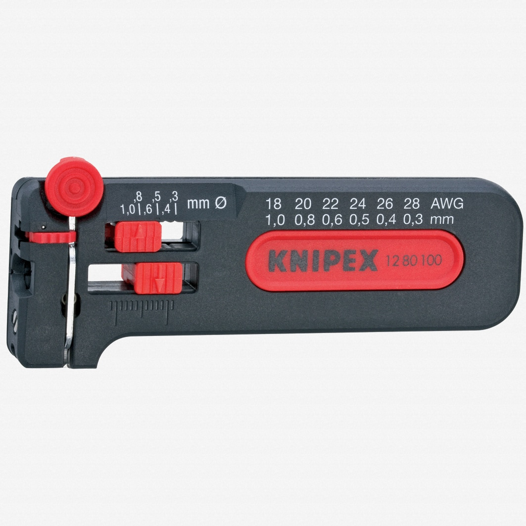 Knipex 12-80-100 Mini Stripping Tool 28 - 18 AWG
