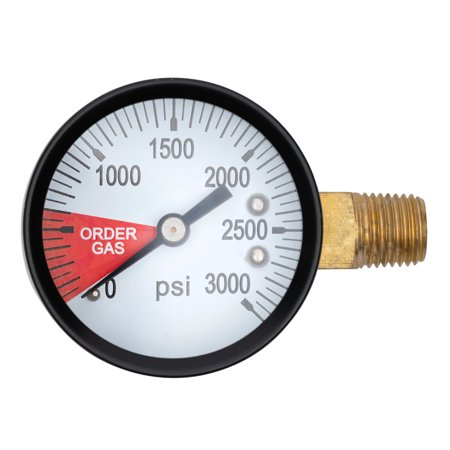 Honda Gauge (Replacement Gauge for CO2 Regulator - 0-3000 PSI - Left Hand Thread )