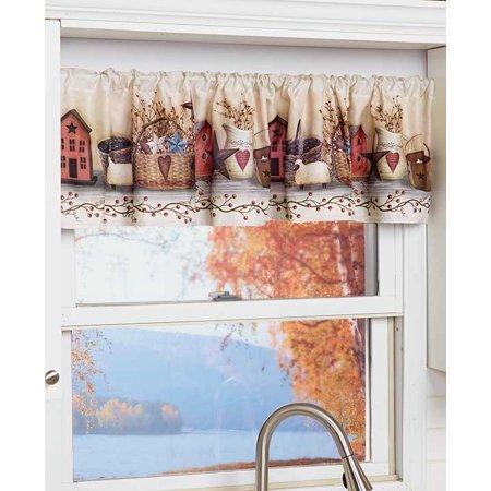 7c580b052e9c2 Primitive Country Kitchen Window Valance - Walmart.com