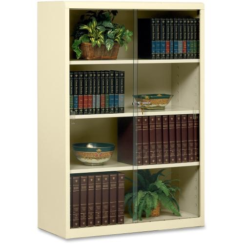 "Tennsco Corp.  4 Shelf Bookcase, w/Glass Doors, 52""High, ..."