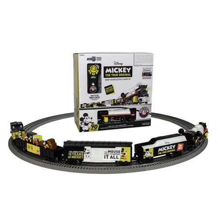 Lionel Disney Mickey Celebration O Gauge Model Train Set with Remote and Bluetooth (Lionel Polar Express Remote Train Set O Gauge)