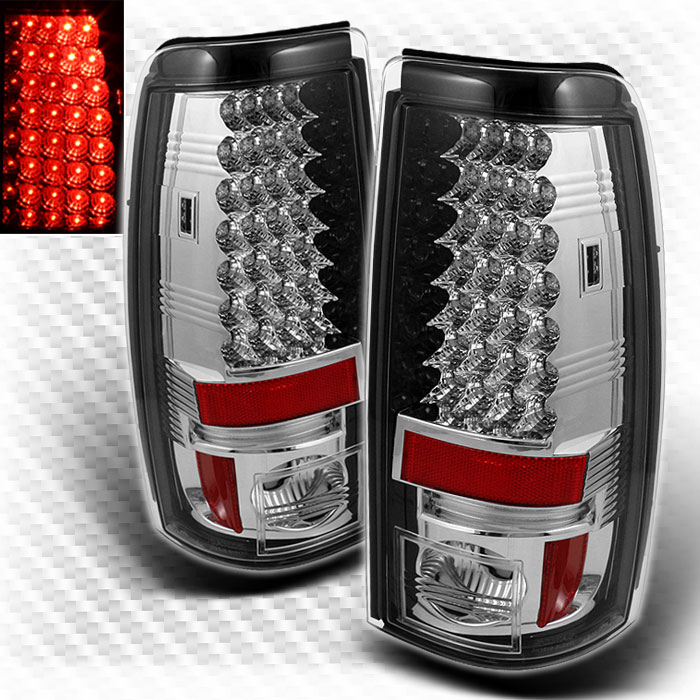 For 2003-2006 Chevy Silverado GMC Sierra Full LED Tail Lights Lamp New  Pair Left+Right 2004 2005