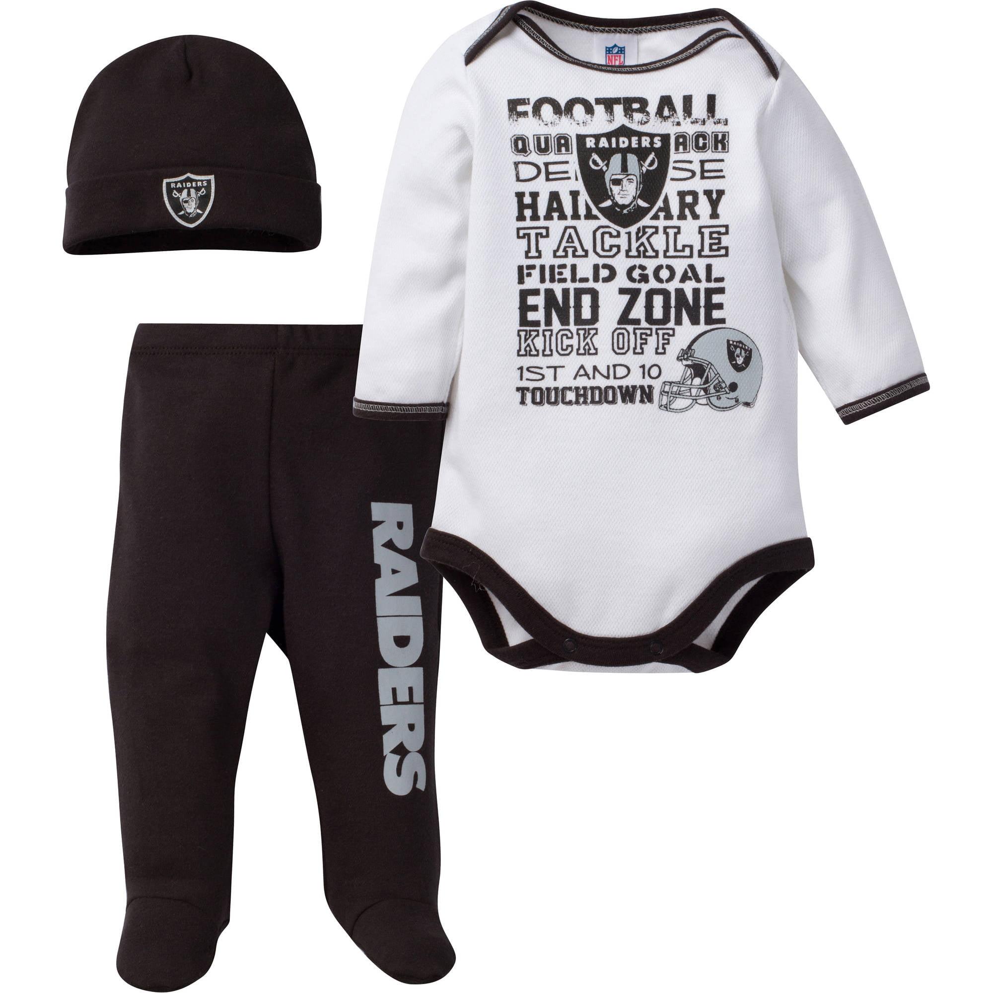 8f4bb30b9 NFL Oakland Raiders Baby Boys Bodysuit