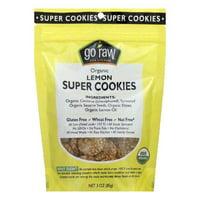 Go Raw Organic Lemon Super Cookies., 3 Oz (Pack of 12)