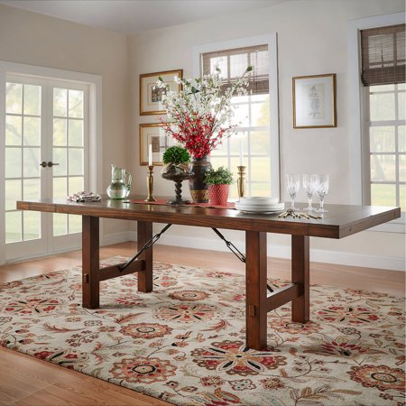 Weston Home Clayton Dining Table, Rustic Oak California Rustic Dining Table