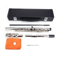Nickel Plated C Closed Hole Concert Band Flute Silver