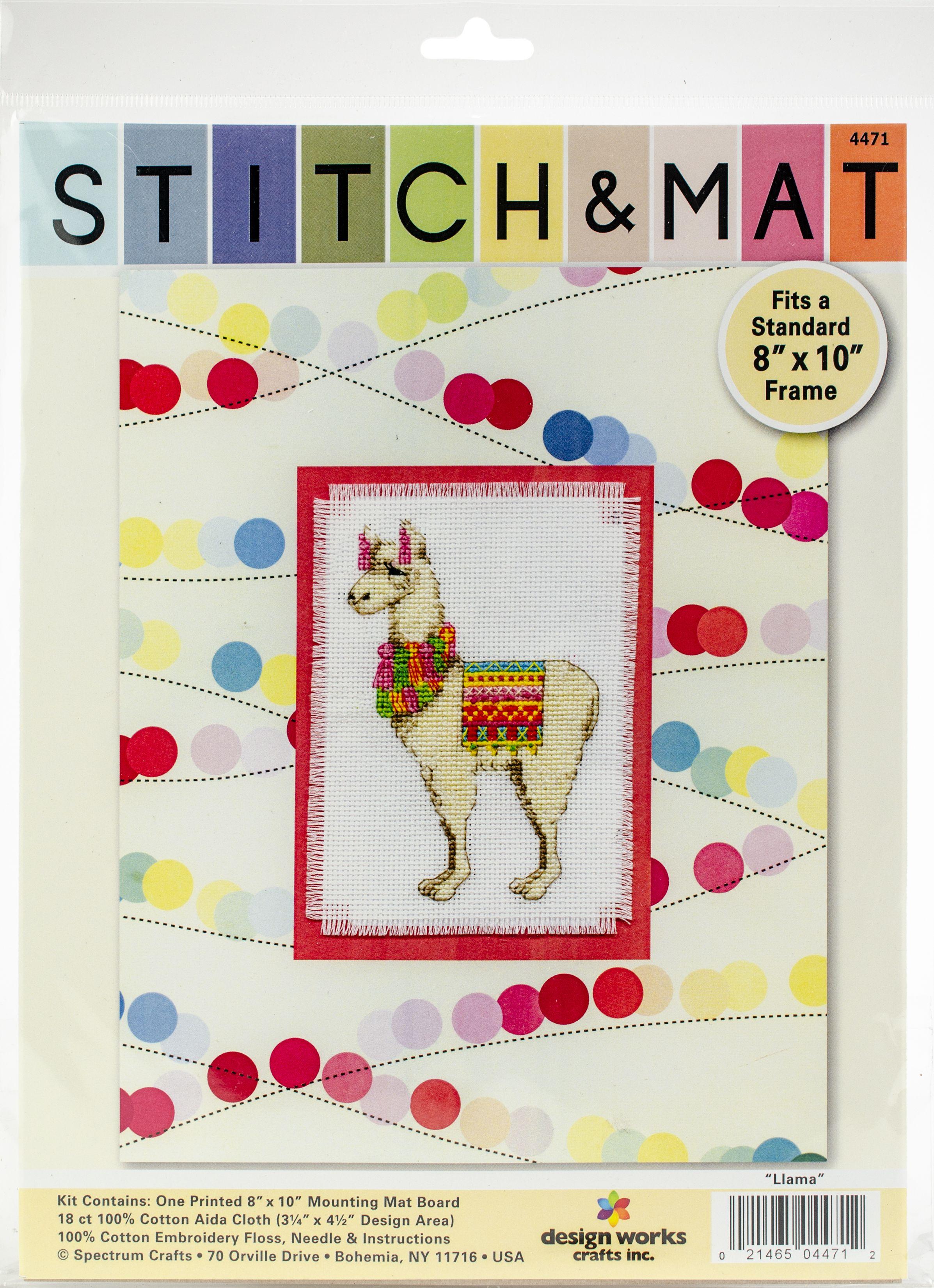 Design Works Stitch Mat Counted Cross Stitch Kit 3x45 Llama 18