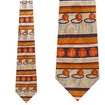 2wd Ball Tie (Basketball Conservative (Navy) Necktie Mens Tie )