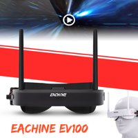 Eachine EV100 5.8G 72CH 720*540 Auto Search FPV Goggles with Dual Antenna Fan 3 Racing Modes For RC Drone Quadcopter FPV Accessory 165mmx76mmx30mm