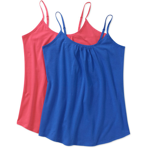 Faded Glory Women's Plus-Size Knit Cami 2-Pack Value Bundle