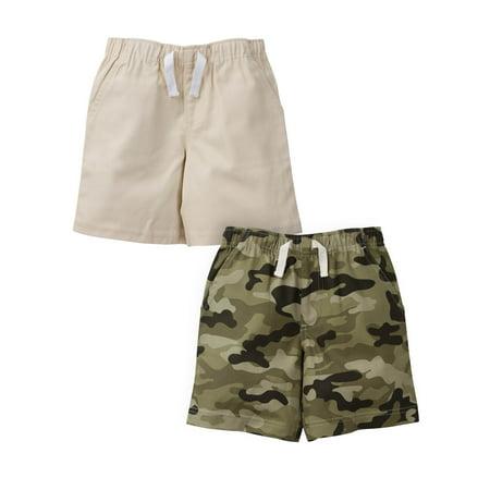 Toddler Boys Denim Shorts (Gerber Graduates Woven Twill Shorts, 2pk (Baby Boys and Toddler Boys) )