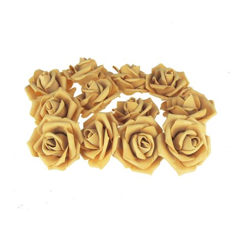 Foam Roses Flower Head Embellishment, 3-Inch, 12-Count,