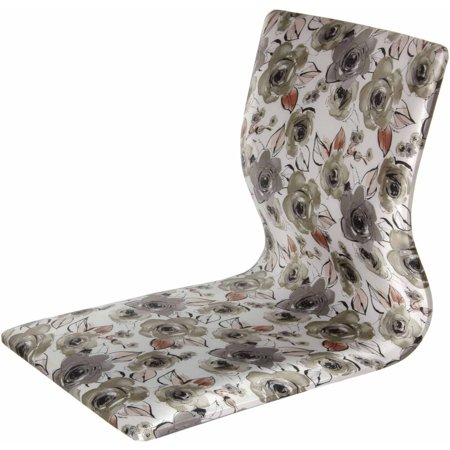 Tatami Meditation Backrest Chair, White Floral