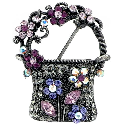 Amethyst Lady Handbag Pin Brooch by