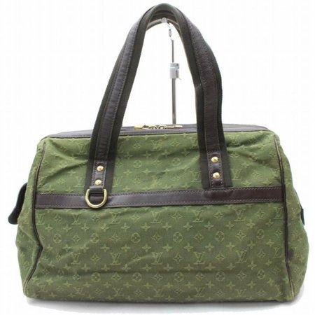 Louis Vuitton Green - Josephine Khaki Olive Monogram Mini Lin Gm Boston Large 870160 Green Leather Satchel