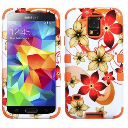 Samsung Galaxy S5 MyBat TUFF Hybrid Phone Protector Cover, Hibiscus Flower (Best Samsung Galaxy S5 Phone Cases)